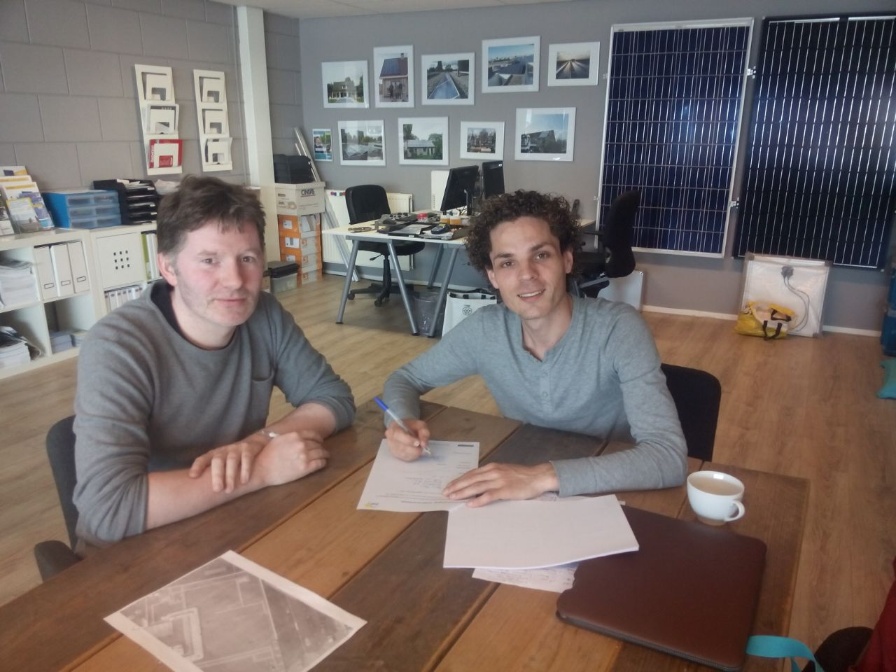 contract tekenen Zon en Co